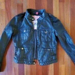 Bernardo collection cropped black faux leather jac